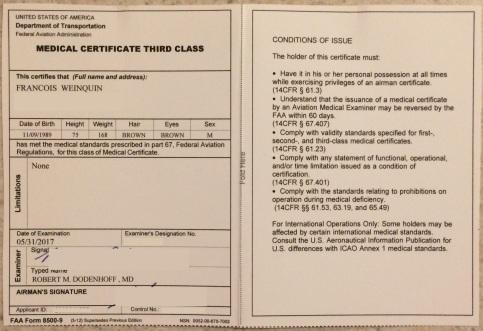 Class 3 medical