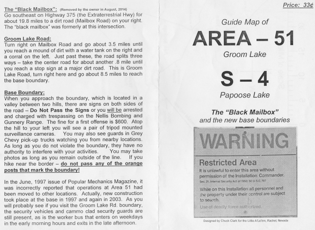 Area 51 map front